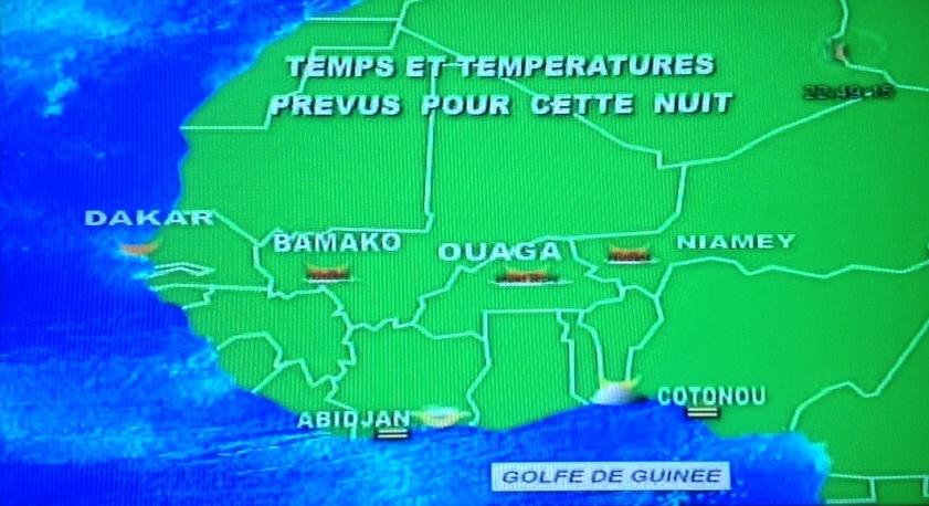 Meteo sur l'Afrique occidentale